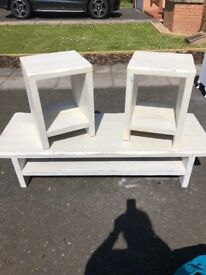Shabby chic sleeper coffee table and sides