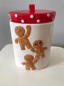 Gingerbread Man Cookie Ceramic Jar