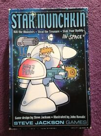 Star Munchkin Board Game / Card Game (Box has storage wear, but cards are in perfect condition)