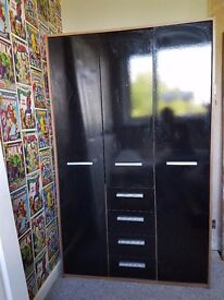 Black gloss wardrobe