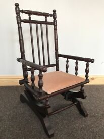 American Rocking Chair - Mini / Childs / Dolls / Teddy Rocking Chair - Retro Rocker - See Delivery