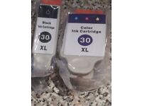 2 NEW (SEALED) INK CARTRIDGES - 30 XL Black & 30 XL Color