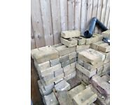 Yellow bricks - over 200 selling for 50p per brick or £75 for all!