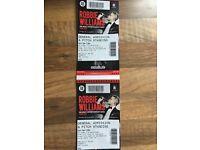 2 x Robbie Williams Tickets Standing Murrayfield 9th June