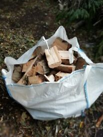 Freshly Cut Firewood, Logs from mixture of soft wood and hardwood trees.