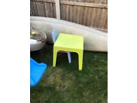 Kids garden table and three chairs