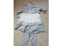 Girls white and grey outfit in size 12-18 months