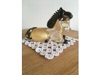 Murano Glass Ornament: Kneeling Horse design
