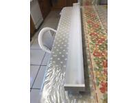 5 foot double fluorescent light fitting with diffuser as new