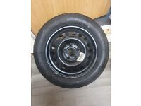 Brand new steel wheel with brand new tyre
