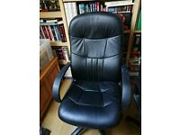 Office Chair in blacl leather for sale.