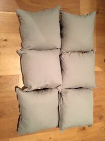 Pale Grey Cushions x 6 - Good Condition
