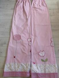 Pink girls curtains