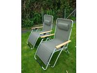 Gravity Chairs (Hardly used - very good condition)
