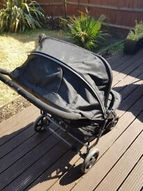 3 month old Pram in Excellent condition. Red Kite Double Pram. Push me Twini