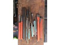 Job lot of punches and chisels