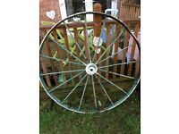 Cast iron cart wheel