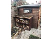 Wood store for sale, just one year old