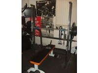 MARCY SM600 SMITH MACHINE AND BENCH WITH WEIGHTS