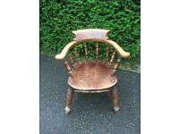 Vintage shabby chic pub style Captain's chair