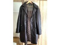 Gents leather duffle style coat