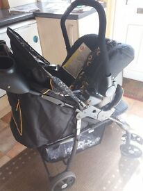 Baby travel system- pushchair and car seat