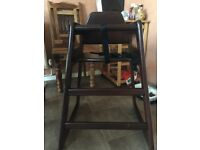 Wooden high chair!!