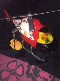 Kids rescue helicopter