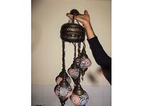Moroccan Turkish Bohemian Hanging Lampshade Coloured glass 1m