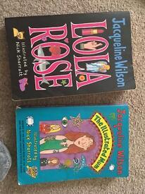 Two Jacquline Wilson books