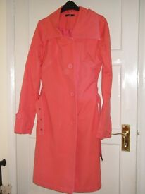 Ladies peach Coat size 10-12-NEW
