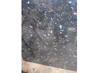 KITCHEN WORKTOPS 4 METRE LENGTH X 600 mm X 2 NEW/STILL WRAPPED BLACK LAMINATED