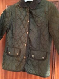 Barbour olive green padded ladies jacket - as new