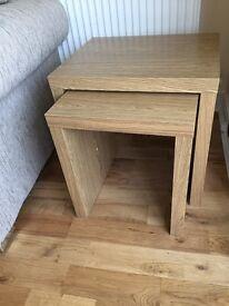 Oak veneer living room furniture
