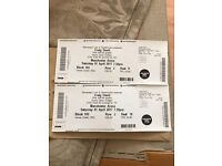 Craig david Manchester seated near stage 2 tickets
