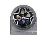 Bmw X5 X6 genuine alloys alloy wheels and Dunlop runflat run flat tyres