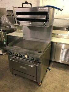 36 gas Garland flat top griddle grill , salamander and oven all for only $2695 !! Retails ( $8700++) rare to find used!