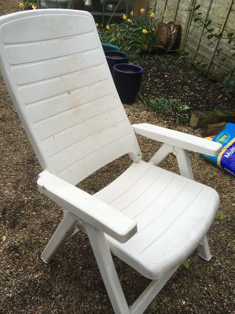 Fantastic White Plastic Sturdy Garden Chair In Church Crookham Hampshire Gumtree Evergreenethics Interior Chair Design Evergreenethicsorg