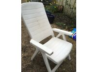 White Plastic Sturdy Garden Chair