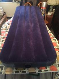 Inflatable air bed single camp bed
