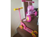 Scooter and Peppa Pig tricycle Lot