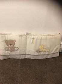 Teddys toyboxes cot or cot bed bumper