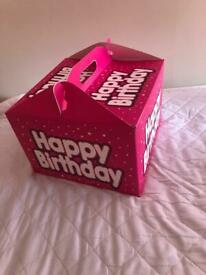 Happy birthday pink gift box Large