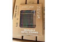 Joblot Pops+pop metal straws