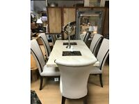Menella Marble dining table plus 4 alpine chairs ( there is only 4 chairs available)