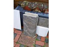 10 large grey slate tiles, spare, 30x60cm.