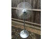 Stainless steel stand fan