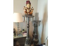 Set of Three Ganesha Statue Decorative Stands