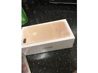 iPhone 7 plus 256gb gold o2 sealed
