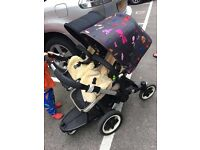 Bugaboo Donkey pram, stroller, buggy, Andy Warhol hood, V1.1 frame